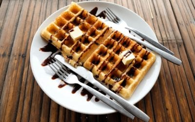 Low Carb Quark-Protein Waffeln ohne Mehl